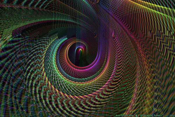 Digital Art - Spiderweb Tunnel  by Ann Stretton