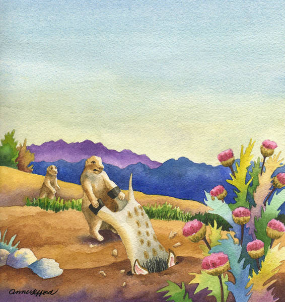 Painting - Spike Gets Stuck by Anne Gifford