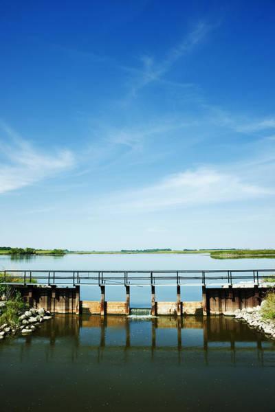 Spillway Photograph - Spillway On Reservoir by Donald  Erickson