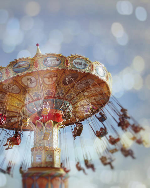 Ferris Wheel Photograph - Spin - Santa Cruz, California by Melanie Alexandra Price