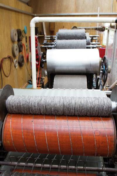 Textile Mill Photograph - Spinning Machine In Woollen Mill by David Woodfall Images/science Photo Library