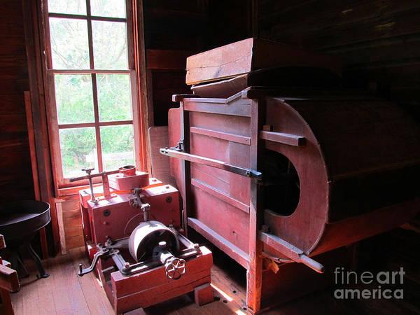 Bonneyville Mill Wall Art - Photograph - Spinning Machine by Tina M Wenger