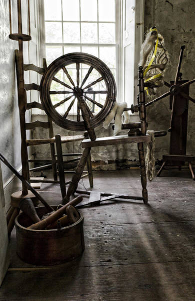 Frontier Photograph - Spinning Wheel by Peter Chilelli