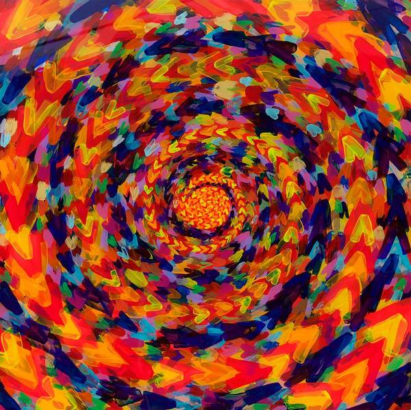 Wall Art - Painting - Spiral Color 14-49 by Patrick OLeary