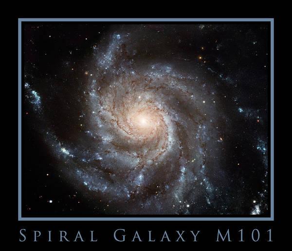 Photograph - Spiral Galaxy M101 by Adam Mateo Fierro