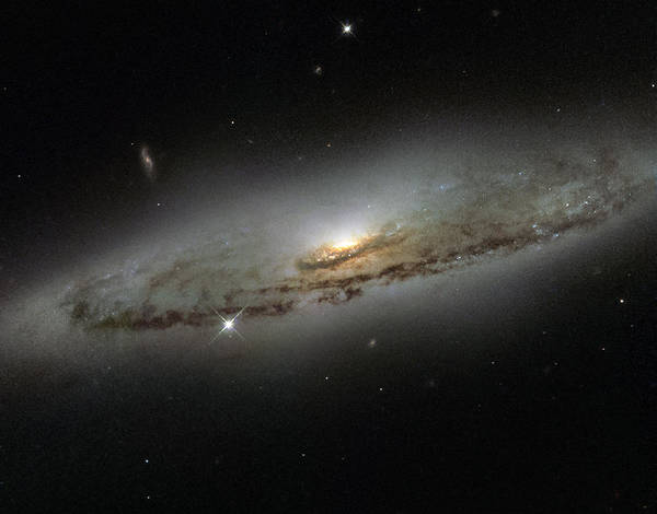 Photograph - Spiral Galaxy Ngc 4845 by Science Source