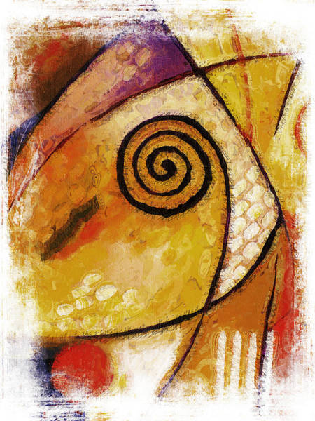 Deep Thought Wall Art - Painting - Spiral Rough by Lutz Baar