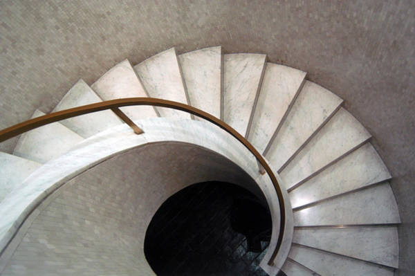 Modernism Photograph - Spiral Stair - Denys Lasdun by Peter Cassidy