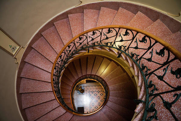 Home Interior Photograph - Spiral Staircase In Can Prunera Museum by Holger Leue