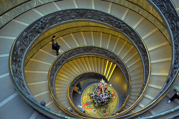 Photograph - Spiral Staircase In Vatican Museum by Tony Murtagh