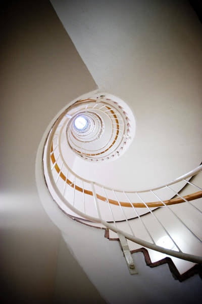 Home Interior Photograph - Spiral Staircase by Johner Images