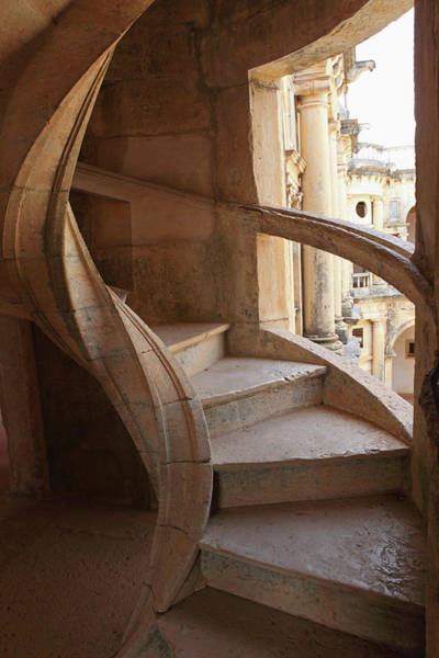 Knights Templar Photograph - Spiral Staircase Within The Convent Of by Stuart Forster / Robertharding