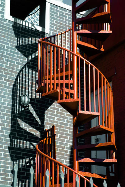 Stairs Wall Art - Photograph - Spiral Stairs - Color by Darryl Dalton