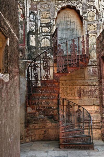 Wall Art - Photograph - Spiral Stairs, Mehrangarh Fort by Adam Jones