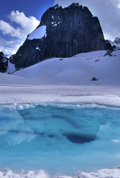 Bugaboo Photograph - Spire And Tarn Glacial Lake In Bugboo by Heath Korvola