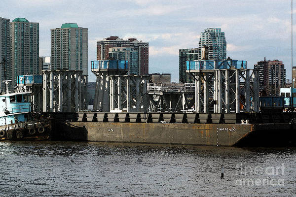 Photograph - Spires On Barge by Steven Spak