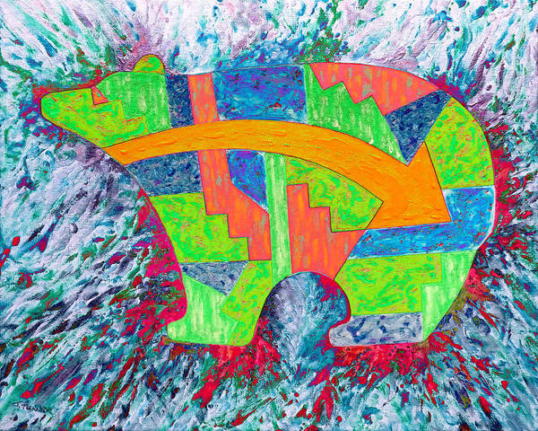 Wall Art - Digital Art - Spirit Bear 03 by Julie Turner