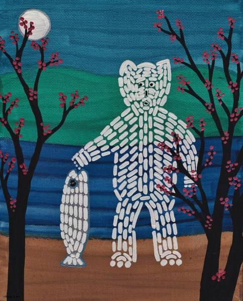 Spirit Bear Bella Coola Art Print