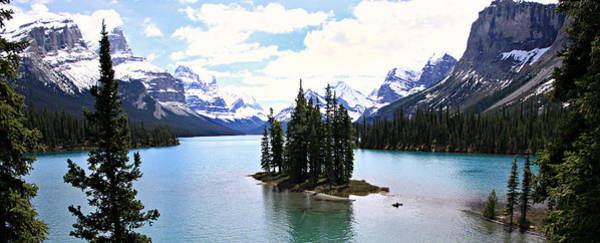 Canadian Landscape Photograph - Spirit Island On Maligne Lake by Stephen Stookey
