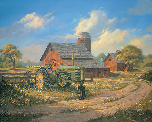 Barns Wall Art - Painting - Spirit Of America by Michael Humphries