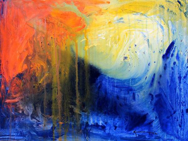 Endless Painting - Spirit Of Life - Abstract 7 by Kume Bryant