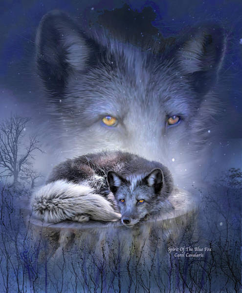 Mixed Media - Spirit Of The Blue Fox by Carol Cavalaris