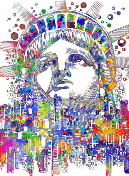 Nyc Skyline Painting - Spirit Of The City by Bekim M