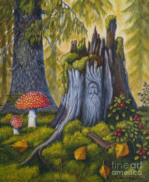 Wall Art - Painting - Spirit Of The Forest by Veikko Suikkanen