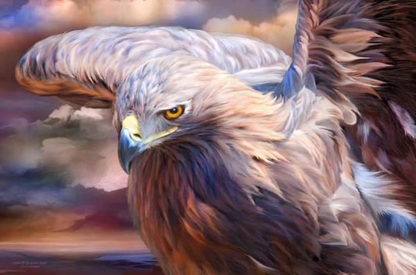 Mixed Media - Spirit Of The Golden Eagle by Carol Cavalaris
