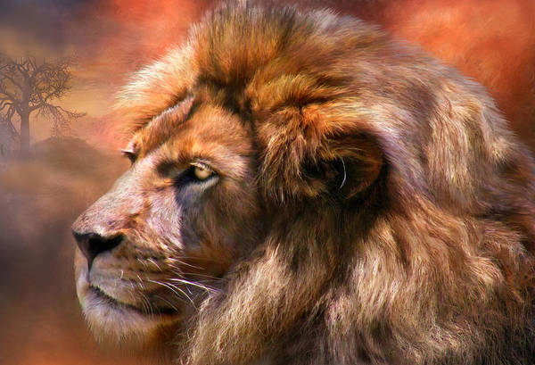 Mixed Media - Spirit Of The Lion by Carol Cavalaris