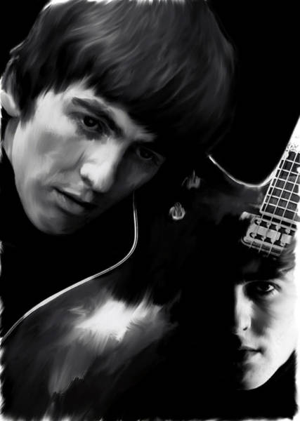 Painting - Spirit Play George Harrison by Iconic Images Art Gallery David Pucciarelli