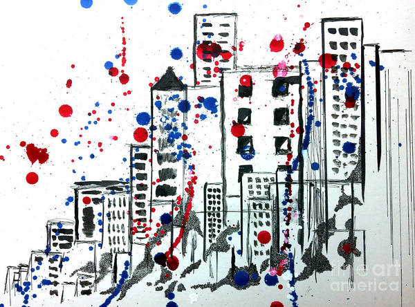 Red Wall Art - Painting - Spirit - Your Soul And Spirit Is In The City by Michael Rados