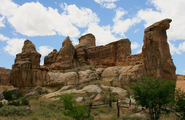 Wall Art - Photograph - Spirits In The Rocks At New Mexico's Acoma Pueblo by Michael Cervin