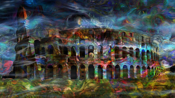 Re-enactment Wall Art - Painting - Spirits Of The Coliseum by Jack Zulli