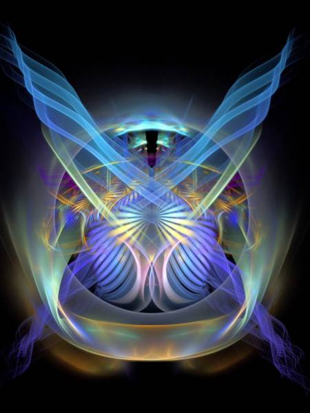 Dive Bar Digital Art - Spiritual-panel-centerbb by Bill Campitelle