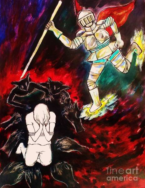Spiritual Warfare Painting - Spiritual Warfare by Esther Rowden