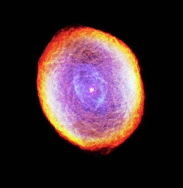 Photograph - Spirograph Planetary Nebula Ic418 by Nasaesastscihubble Heritage Team