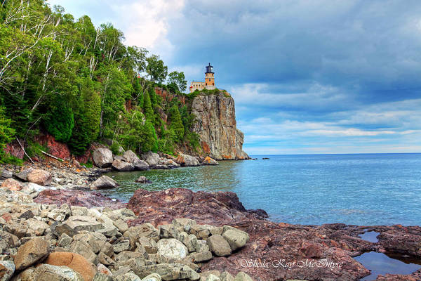 Photograph - Spit Rock Lighthouse by Sheila Kay McIntyre