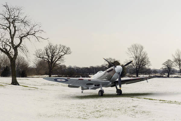 Digital Art - Spitfire In The Snow by Gary Eason