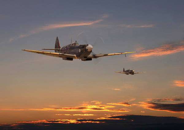 Scape Photograph - Spitfire - Mission Complete by Pat Speirs