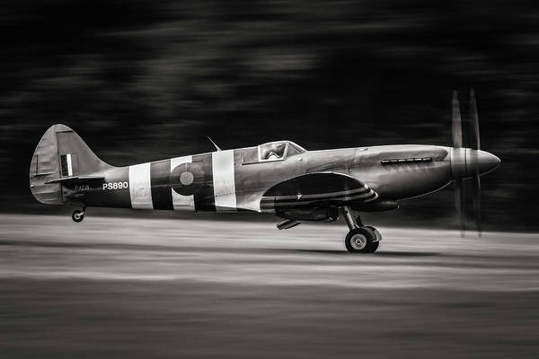 Military Wall Art - Photograph - Spitfire Mk Xix by J??r??me Licois