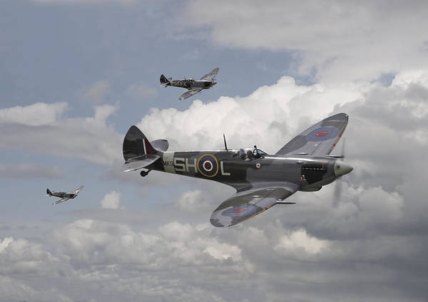 Battle Of Britain Digital Art - Spitfire - On Patrol by Pat Speirs