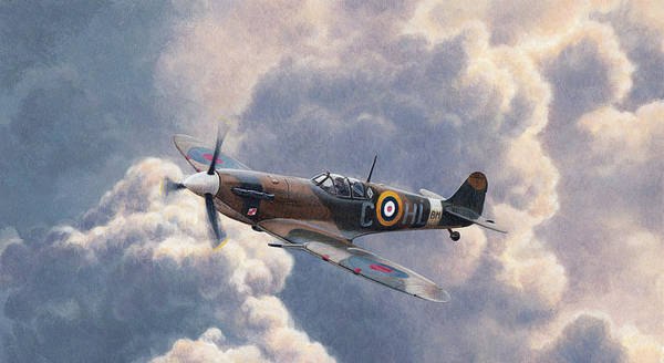 Photograph - Spitfire Plane Flying In Storm Cloud by Ikon Ikon Images
