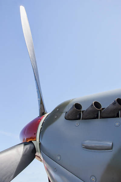 Wall Art - Photograph - Spitfire Propeller And Exhaust by Daniel Hagerman