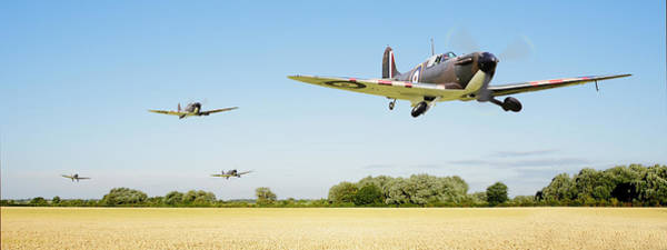 Spitfire Photograph - Spitfire - Red Section Airborne by Pat Speirs