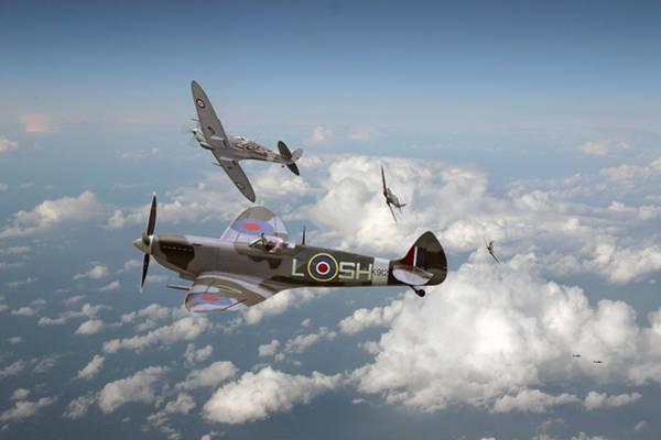 Luftwaffe Wall Art - Photograph - Spitfire - Tally Ho by Pat Speirs