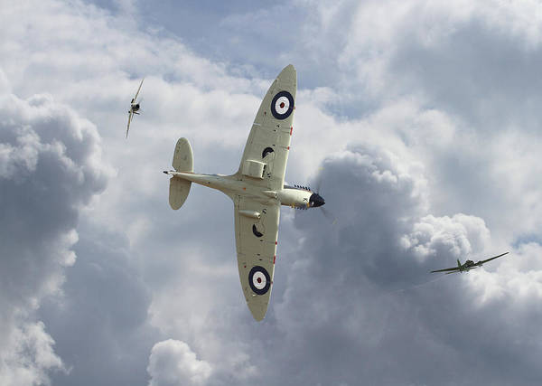 Bomber Photograph - Spitfire - 'you Can Run..........' by Pat Speirs