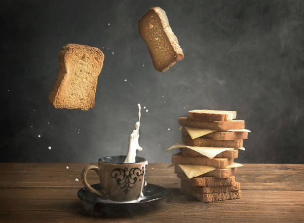 Bread Wall Art - Photograph - Splash by Ali Bader