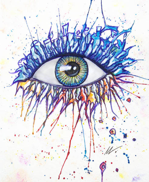Painting - Splash Eye 1 by Kiki Art