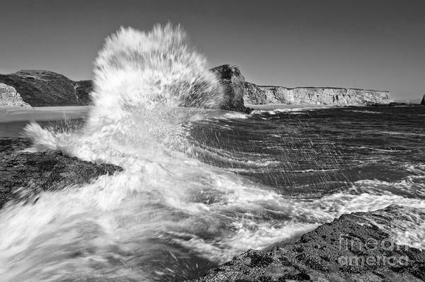 Splash - Panther Beach In Santa Cruz California. Art Print